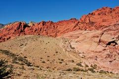 Gorge rouge de roche Photographie stock