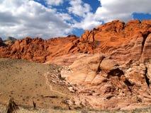 Gorge rouge de roche Images libres de droits