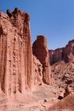 Gorge rouge de roche en stationnement national de Talampaya photo stock