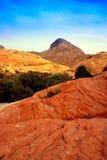 Gorge rouge de roche, Nevada images libres de droits