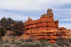 Gorge rouge en Utah Images libres de droits