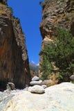 Gorge Samaria на Крите Стоковая Фотография RF