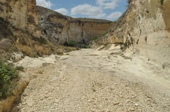Gorge with steep walls. South East Turkey. Leisure and tourism. Climbing Royalty Free Stock Image