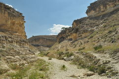 Gorge with steep walls. South East Turkey. Leisure and tourism. Climbing Stock Images