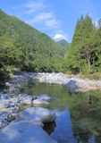 Beautiful gorge Takayama Japan landscape  Royalty Free Stock Photo