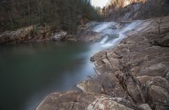 Gorge of Tallulah Falls. Waterfalls in Tallulah Gorge State Park, GA Royalty Free Stock Photo