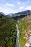 Gorge Tara - Monténégro Image stock