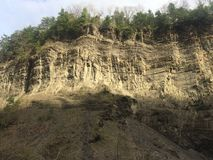 Gorge at Taughannock Falls royalty free stock photo