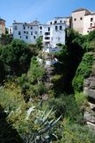 Gorge and town buildings, Ronda, Spain. Stock Image