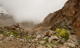 In the gorge Tuyuk-Su. Tuyuk-Su gorge in the mountains of Trans-Ili Alatau, near the city of Almaty Stock Photography