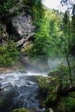 Gorge Vintgar в Словении Джулиан альп Стоковые Фотографии RF
