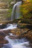 Gorge Waterfalls. Large waterfall found in Watkins Glen Stock Images