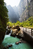 gorge in wulong, chongqing, china Royalty Free Stock Images