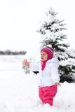 Gorgeos baby girl in wintertime Royalty Free Stock Photo