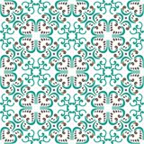 Gorgeous abstract green brown tile seamless pattern design. Moroccan, Portuguese or Mediterranean tiles. For wallpaper print, patt Stock Photography