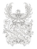Gorgeous adult coloring page Stock Photo