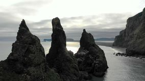 Icelandic Rock Formations Aerial View