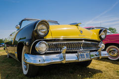 Gorgeous amazing closeup front view of classic vintage car on sunny day Stock Photography