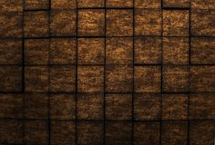 Amazing detailed closeup view of dark bronze color interior wall luxury background Stock Photos