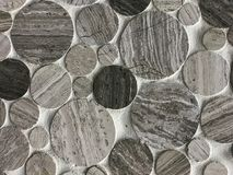 Amazing detailed closeup view of natural various stone decoration interior wall background stock image