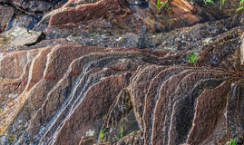 Gorgeous amazing detailed view natural stone background Royalty Free Stock Photos