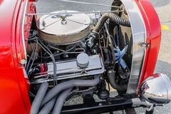 Gorgeous amzing view of  classic retro vintage hot rod car engine Stock Photography