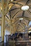 Gorgeous architecture of the interior of Ronald Reagan Washington National Airport,Washington,DC,2015 Stock Photo