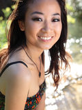 Gorgeous asian/chinese girl smiling Royalty Free Stock Photo