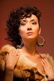 Gorgeous Asian woman with curly hairstyle Stock Photo