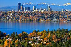 Gorgeous autumn scenery @ Bellevue Washington Royalty Free Stock Image