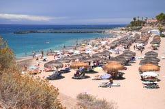 Gorgeous azure sandy Playa del Duque in Costa Adeje on Tenerife Stock Photo