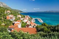 Gorgeous azure scene of summer croatian landscape in podgora, dalmatia, croatia Royalty Free Stock Photo