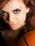 Gorgeous baketball player Stock Photos