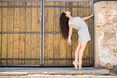 Gorgeous ballet dancer performing Royalty Free Stock Photos