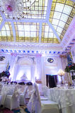 Gorgeous banquet hall Royalty Free Stock Image