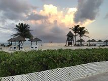 Gorgeous Beach in the Caribbean. A gorgeous beach in the Caribbean with only the finest seating and billion dollar views Royalty Free Stock Image
