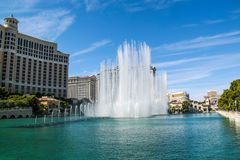 Gorgeous Bellagio Fountains Las Vegas Strip - Las vegas Strip Hotel. 09.17.2012. USA. Las Vegas royalty free stock photos