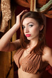 Gorgeous Belly Dancer Royalty Free Stock Photography