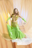 Gorgeous belly dancer Stock Photography