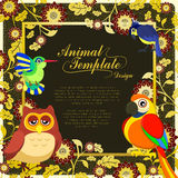 Gorgeous birds template Royalty Free Stock Photography