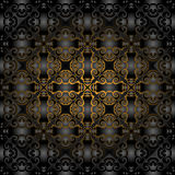 Gorgeous black gold seamless pattern Stock Images