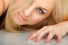 Gorgeous blond female face Stock Images