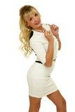 Gorgeous blond girl Stock Photos