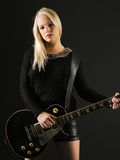 Gorgeous blond playing electric guitar Stock Image