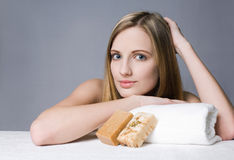 Gorgeous blond spa woman. Stock Photography
