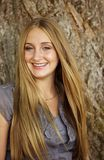 Gorgeous Blond Teen. Beautiful blond teen model with hair blowing in the wind royalty free stock image
