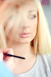 Gorgeous blonde with beautiful face Royalty Free Stock Photos