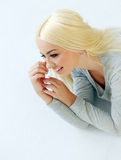 Gorgeous blonde with beautiful face Royalty Free Stock Images