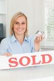 Gorgeous blonde businesswoman Stock Photos