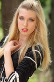 Gorgeous blonde girl Stock Images
